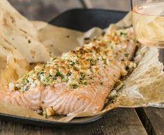 Losos s bylinkovou krustou   Recepty Albert Toast, Food And Drink, Fitness