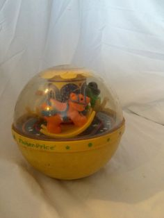 REDUCED PRICE!!! 1986 Fisher Price Toys #1150 Chime Ball Lion, Swan & Pony
