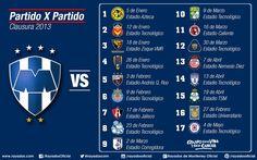Calendario de partidos #Rayados en el Clausura 2013