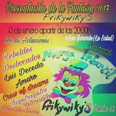 Grupo Mascarada Carnaval: Presentación disfraz Murga Frikywikys 2017