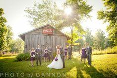 Purple and grey are so beautiful all year round! Kellum Valley Farm wedding! {June 22, 2013}