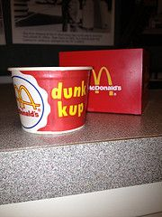 Before McDonald's provided ketchup packets in restaurants, we served everyone's favorite condiment in a 'dunk kup'!    #mcdonalds #McDonald's