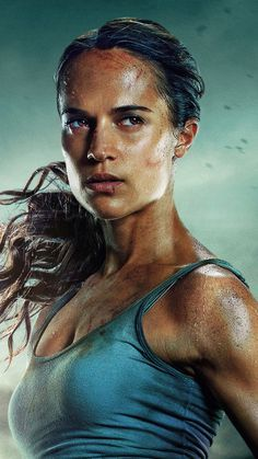 Alicia Vikander as Lara Croft in tomb raider Kristin Scott Thomas, Tomb Raider Alicia Vikander, Alicia Vikander Lara Croft, Tomb Raider Movie, Tomb Raider 2018, Tomb Raider Costume, Tomb Raider Lara Croft, Nathan Drake, Rio Film