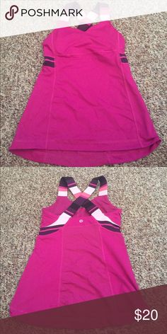 Lululemon workout tank Lululemon workout tank. Great condition. Cross back detail lululemon athletica Tops Tank Tops