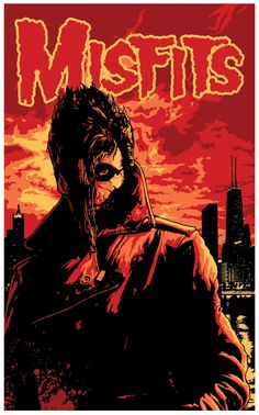 My design for the Misfits Reunion Riotfest gigs Art by Flynn Prejean at BadMoon Studios