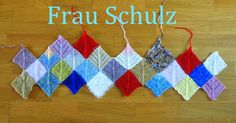 Knitting a Blanket - Decke stricken : Wie strickt man eine Frau Schulz Decke – Anleitung mit Fotos. How to knit a Frau Schulz blanket – Tutorial with pictures. knitting to give you a better service we recommend you to browse the content on our site. Sewing Projects For Beginners, Knitting For Beginners, Knitting Projects, Knitting Patterns, Knitted Blankets, Baby Knitting, Start Knitting, Crochet Flowers, Garden Projects