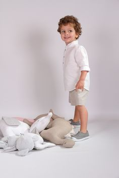 Camisa Manchega lino blanco roto