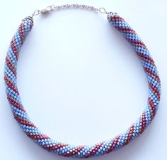 Bead crocheted necklace A Touch Of Wine by Romancingtheneck, $150.00