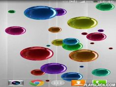 Bubble  Android App - playslack.com , Bubble - exclusive live  wallpaper which contains a mass of multi-colored globules. In settings it is viable to select the speed of their movement, quantity, color of a background and many other things.