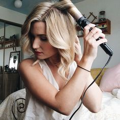 simple step by step tutorial for soft waves with a traditional curling iron
