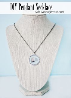 Stop by and learn how to make this super easy DIY Pendant Necklace with livelaughrowe.com #diy #jewelry #pendant