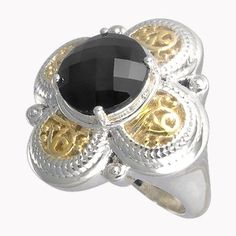 Amazon.com: Aura 925 Sterling Silver Marcasite Ring with Black Onyx Gemstone Size 7 - Free Shipping: (50% DISCOUNT)