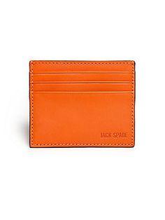 Jack Spade Grant Leather Card Case