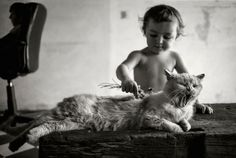 Alain Laboile #child #cute #inspiration #cat #muchlove