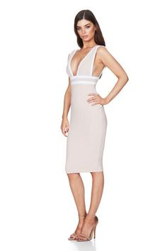 c00b14d474 Mia Midi Dress Nude by Nookie Casual Dresses