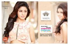 #betheredelhi @ #serendipitytake6 on 28th October'15 at Vasant Continental Presenting ..Voiix ..the brand by Saiba M Alagh & Maneet Singh. Literary meaning VOICE, the brands attempts to give voice & freedom to all the women via their clothing...be there to witness it. Voiix