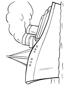 Easy Shapes Coloring pages | Cruise Ship