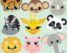 ON SALE 60% OFF Jungle Animal clip art, jungle animal clipart, zoo animal clipart, zoo clip art, commercial use, vector graphics,Amb-273