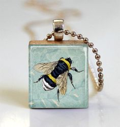Bee Pendant by Missing Pieces Studio