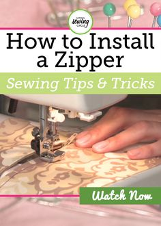 Krista Williams demonstrates how to install a center (or slot) zipper using a self-basing zipper. She shows you every step including preparing the opening, marking a 5/8th inch seam, ironing the fusible interfacing and more.
