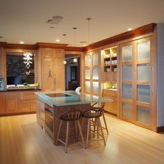 Kitchen Bamboo Flooring Design, Pictures, Remodel, Decor and Ideas - page 7
