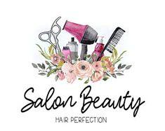 Premade Custom Logo -SALON BEAUTY- Premade Logo, Boho Hair Stylist Logo, Logo Design, Logo Branding, Makeup Artist Logo, Hair & Makeup