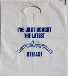 Record Shack Vinyl Store, Paper Shopping Bag, Bags, Handbags, Bag, Totes, Hand Bags