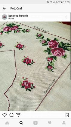 This Pin was discovered by Zel Embroidery Flowers Pattern, Flower Patterns, Embroidery Stitches, Free To Use Images, Cross Stitch Flowers, Beading Patterns, Doilies, Diy Clothes, Bohemian Rug