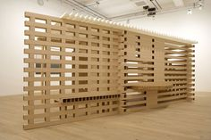 A tea house made out of paper and cardboard, designed by Japanese architect Shigeru Ban. Cardboard Chair, Cardboard Furniture, Shigeru Ban, Home Design, Interior Design, Design Ideas, Timber Cladding, Cladding Ideas, Materials And Structures