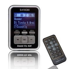 Amazon.com: Soundfly AUX MP3 Player Car Fm Transmitter for SD Card, USB Stick, Mp3 Players (iPod, Zune, Sansa) with Remote Control: Electronics  Also has expandable memory slot
