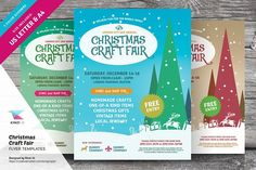 Christmas Craft Fair Flyer Templates  @creativework247