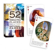 Enter to win this great set of educational playing cards 52 Amazing Places - National Parks from Birdcage Press.