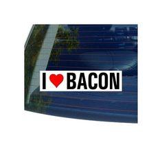 I Love Heart BACON - Window Bumper Sticker : Amazon.com : Automotive