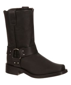 Black Leather Western Boot