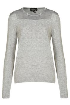 Knitted Sheer Solid Mix Sweat