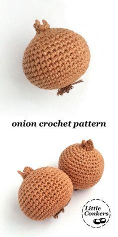 Crochet Onion Pattern / Crochet Vegetable Pattern / Crochet Food Pattern Onion crochet pattern by - Easy crochet pattern for a realistic onion. One of a range of matching crochet patterns. Crochet Patterns For Beginners, Easy Crochet Patterns, Crochet Patterns Amigurumi, Knitting Patterns, Knitting Tutorials, Loom Knitting, Free Knitting, Stitch Patterns, Crochet Fruit