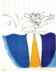 """作家名:  池田満寿夫(デモクラート美術協会)  作品名: 海のスカート(1965) 1'4"""" x 3'"""