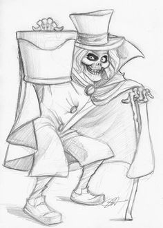 Hat Box Ghost drawing