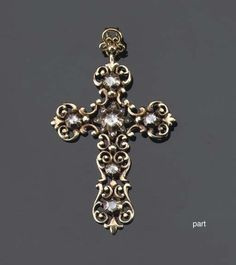 Vintage necklace victorian jewelry cross necklace vintage antique gem set cross pendant set with rose cut diamonds circa 1900 aloadofball Image collections