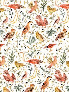 Birds Archival Giclee Print by VikkiChu on Etsy, $17.00