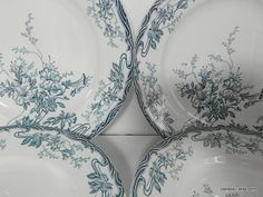 Longwy 4 beautiful French vintage serving by frenchvintagedream, $45.00