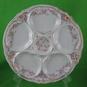 Théodore Haviland Limoges Rose Oyster Plate
