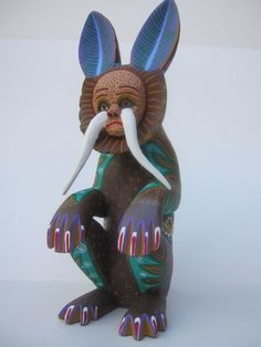 OAXACAN WOOD CARVING CHARMING NAHUATL  MEXICAN FOLK ART #Mexican