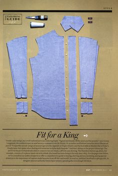 Hamilton shirt since 1883, consists of 10 pieces hand-cut with a blade.