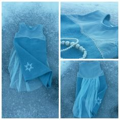 Frozen insp. Elsa dress made in wool  Hjemmesydd frost inspirert Elsa kjole I ull