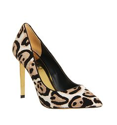 Ted Baker Keevah High Heel Black Nude Animal Pony - High Heels