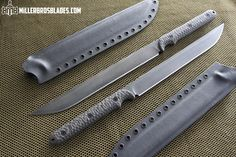 Miller Bros Blades :: A pair of custom short swords in CPM 3V with Carbon Fiber Handles