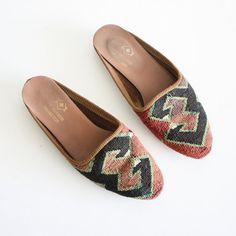 Sz 8 Turkish KILIM Slip In Shoes on Etsy, $48.00
