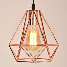 Universe of goods - Buy New modern plating metal cage pendant lamp vintage plating rose gold birdcage creative hanging lamp for restaurant living room for only USD. Cage Pendant Light, Cheap Pendant Lights, Pendant Light Fixtures, Pendant Lamps, Modern Pendant Light, Rose Gold Lamp, Rose Gold Lights, Gold Ceiling Light, Kitchen Ceiling Lights