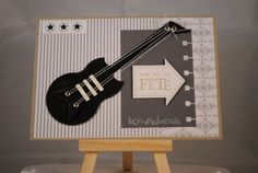 carte_guitare perfo stampin up